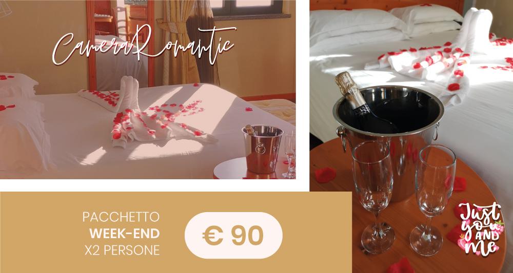 Camera romantic hotel montelago